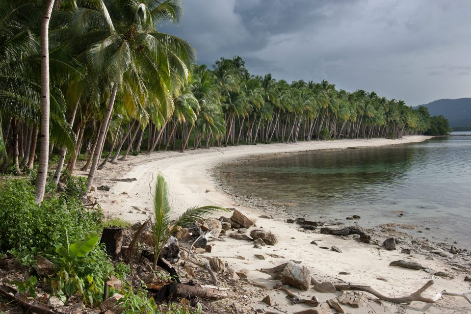 White Beach south of Port Barton in the Philippines