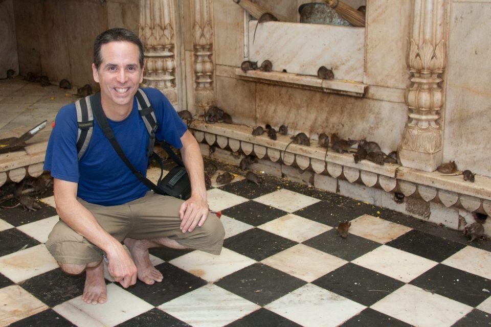 Tony at the Karni Mata rat temple