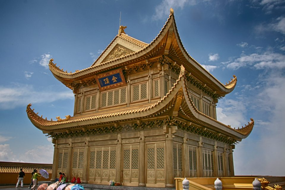 Huazang Temple at summit of Emei Shan